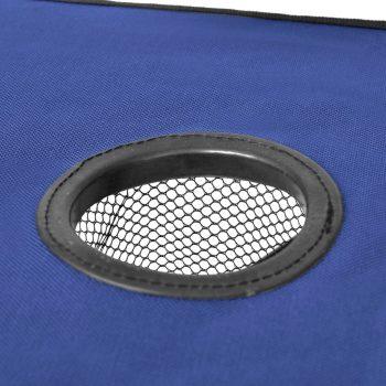 Zložljiva mizica za kampiranje modre barve