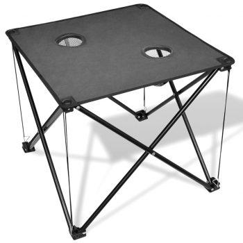 Zložljiva mizica za kampiranje sive barve