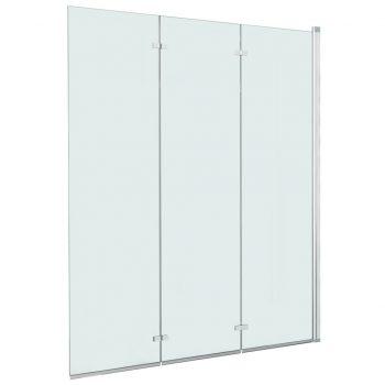Zložljiva pregrada za tuš s 3 paneli ESG 130x138 cm