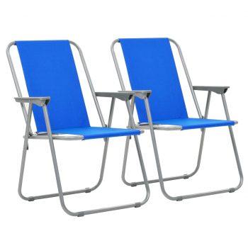 Zložljivi stoli za kampiranje 2 kosa 52x59x80 cm modra