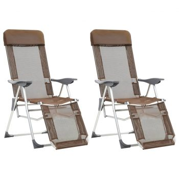 Zložljivi stoli za kampiranje 2 kosa taupe aluminij