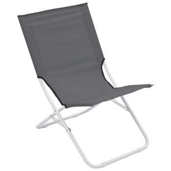 Zložljivi stoli za na plažo 2 kosa sivi