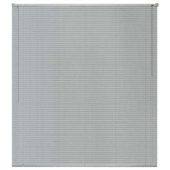 Žaluzije za Okna Aluminij 100x160 cm Srebrne Barve