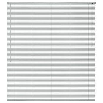 Žaluzije za Okna Aluminij 140x130 cm Srebrne Barve