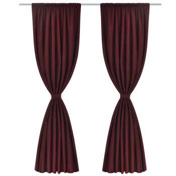 2 kosa bordo dvoplastnih zaves 140 x 245 cm