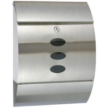 HI Poštni nabiralnik iz nerjavečega jekla 30x12x40 cm