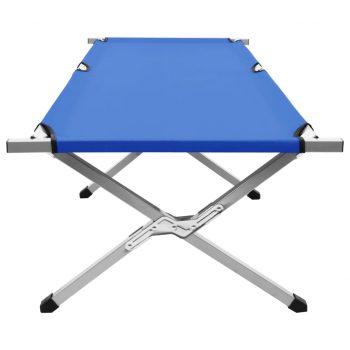 Kamp postelja 190x74x47 cm XL modra