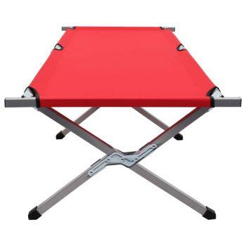 Kamp postelja 190x74x47 cm XL rdeča