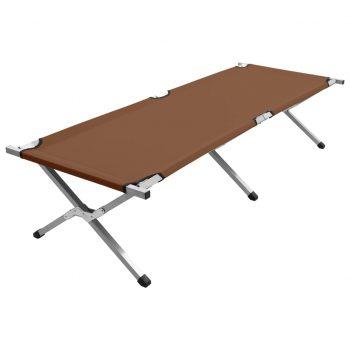 Kamp postelja 190x74x47 cm XL rjava