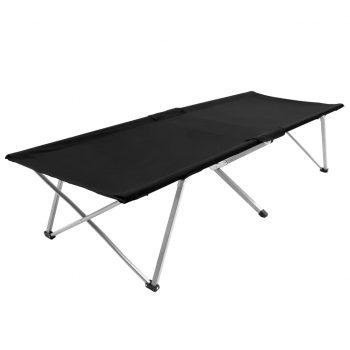 Kamp postelja 206x75x45 cm XXL črna