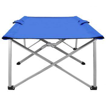 Kamp postelja 206x75x45 cm XXL modra