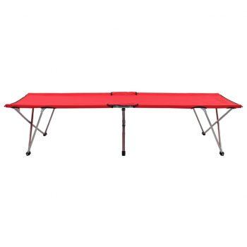 Kamp postelja 206x75x45 cm XXL rdeča