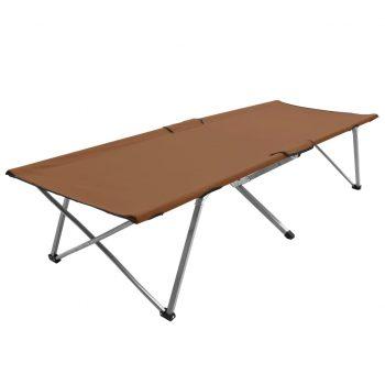 Kamp postelja 206x75x45 cm XXL rjava