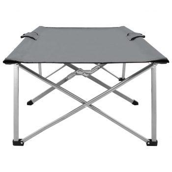 Kamp postelja 206x75x45 cm XXL siva