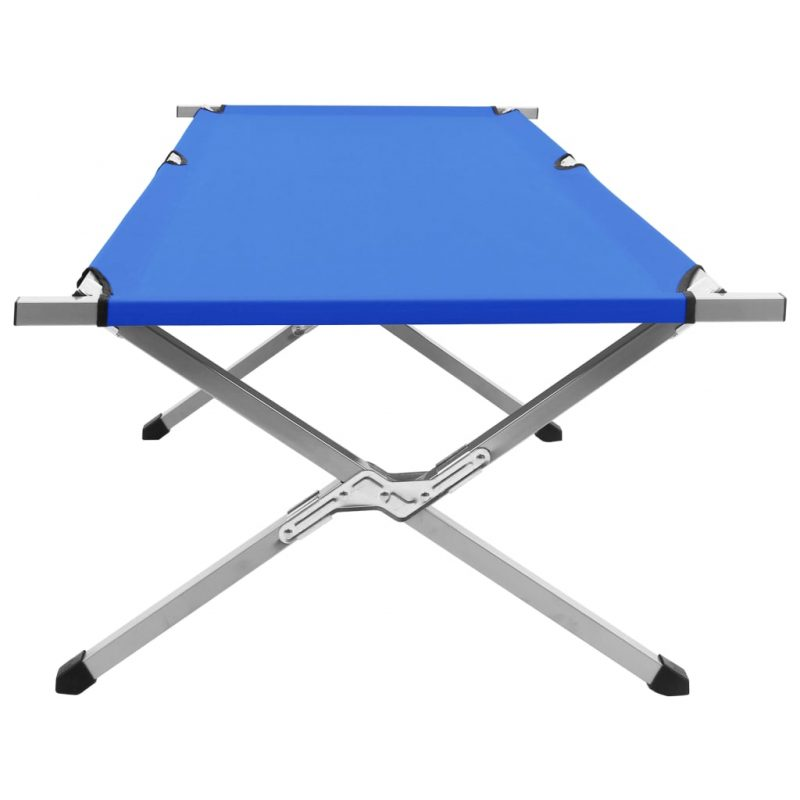 Kamp postelja 210x80x48 cm XXL modra