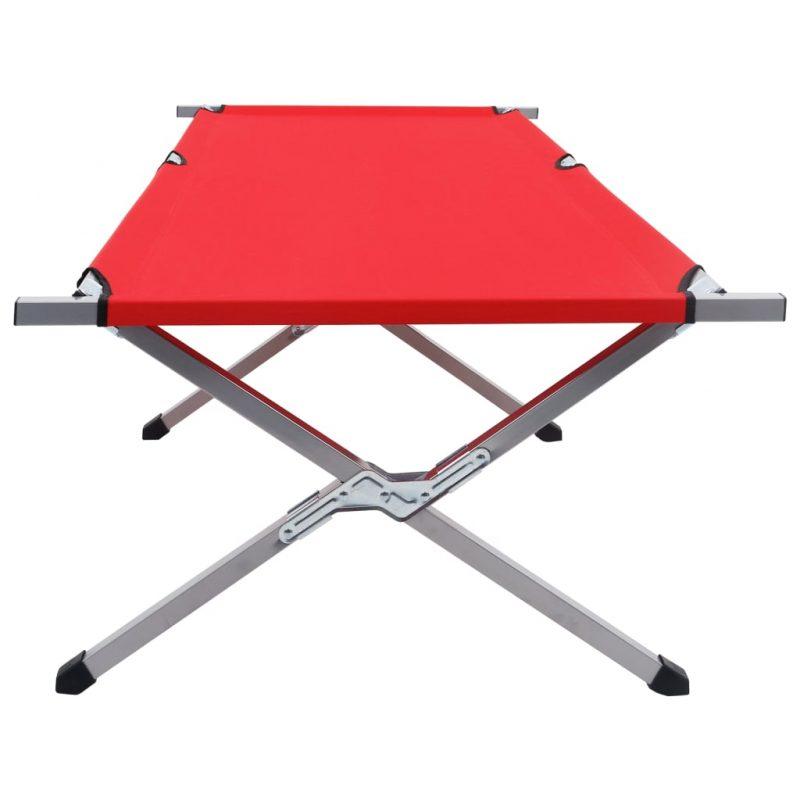 Kamp postelja 210x80x48 cm XXL rdeča