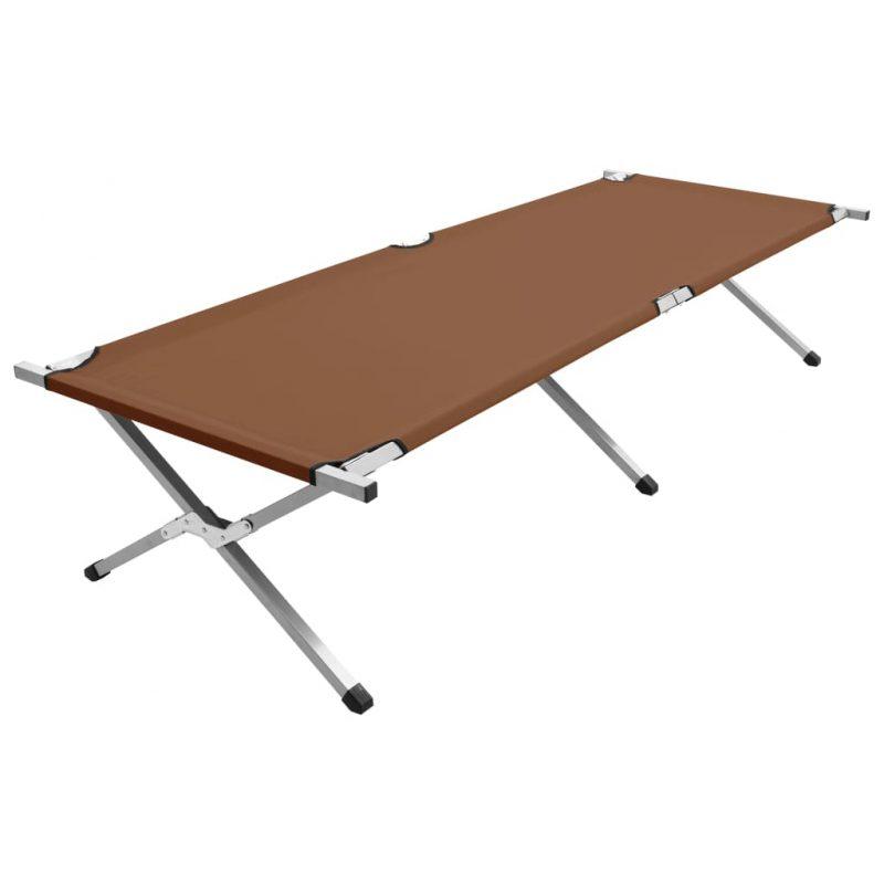 Kamp postelja 210x80x48 cm XXL rjava