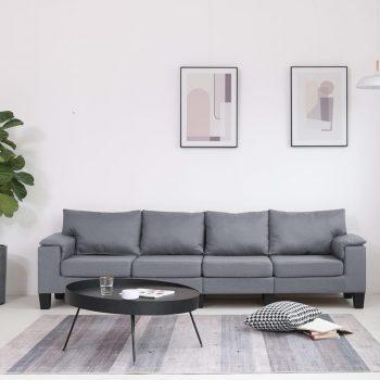 Kavč štirised svetlo sivo blago