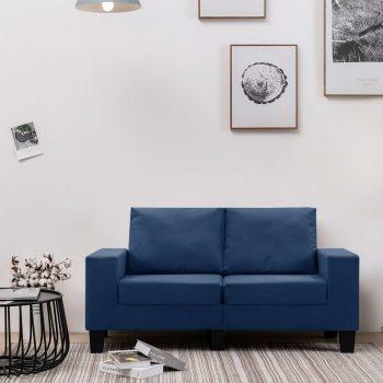 Kavč dvosed modro blago