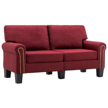 Kavč dvosed vinsko rdeče blago