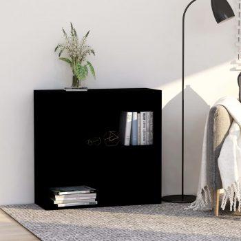 Knjižna omara 2-nadstropna črna 80x30x76