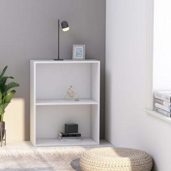 Knjižna omara 2-nadstropna bela 60x30x76