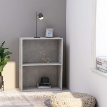 Knjižna omara 2-nadstropna siva 60x30x76