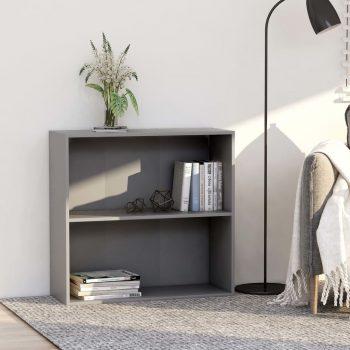 Knjižna omara 2-nadstropna siva 80x30x76