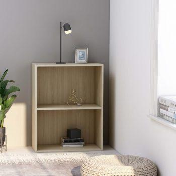 Knjižna omara 2-nadstropna sonoma hrast 60x30x76