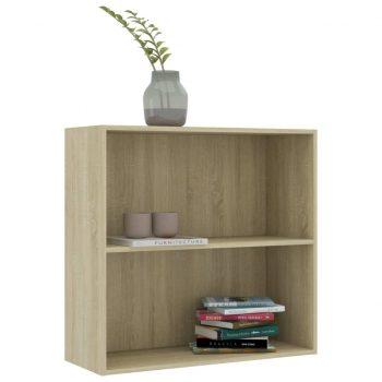 Knjižna omara 2-nadstropna sonoma hrast 80x30x76