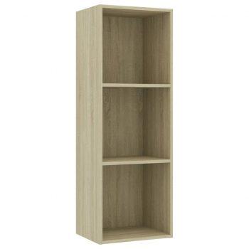Knjižna omara 3-nadstropna sonoma hrast 40x30x114 cm iverna pl.