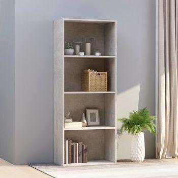 Knjižna omara 4-nadstropna betonsko siva 60x30x151
