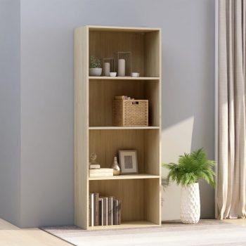 Knjižna omara 4-nadstropna sonoma hrast 60x30x151