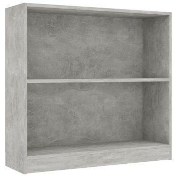 Knjižna polica betonsko siva 80x24x75 cm iverna plošča
