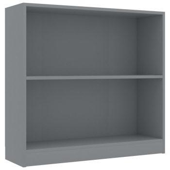 Knjižna polica siva 80x24x75 cm iverna plošča