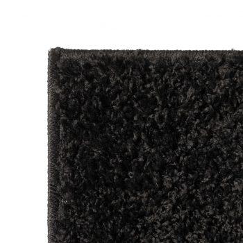 Košata preproga 160x230 cm črne barve