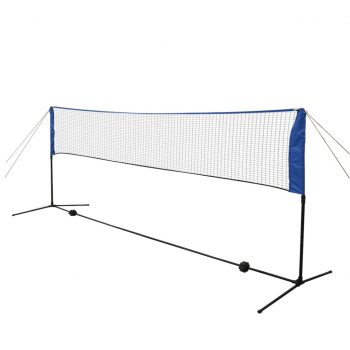 Komplet mreže za badminton s perjanicami 300x155 cm