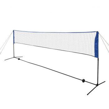 Komplet mreže za badminton s perjanicami 500x155 cm