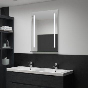Kopalniško LED stensko ogledalo s polico 60x80 cm