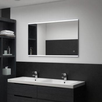 Kopalniško LED stensko ogledalo s senzorjem na dotik 100x60 cm