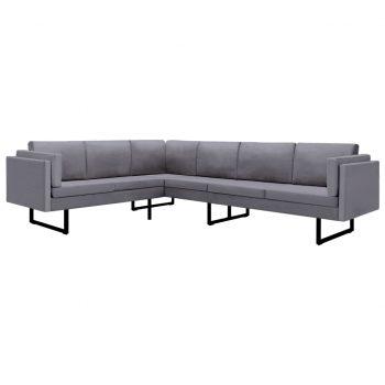 Kotni kavč svetlo sivo blago