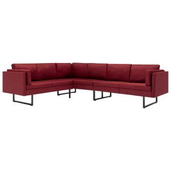 Kotni kavč vinsko rdeče blago