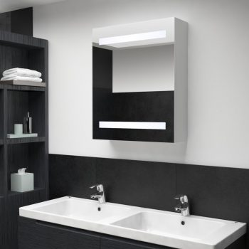LED kopalniška omarica z ogledalom 50x14x60 cm