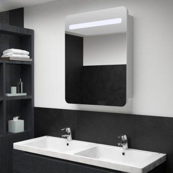 LED kopalniška omarica z ogledalom 60x11x80 cm