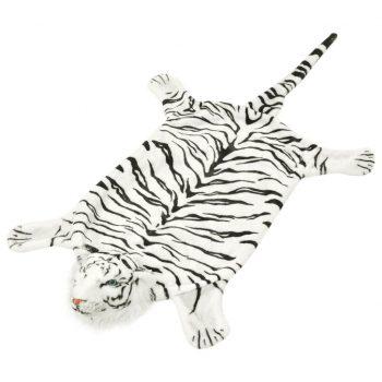 Plišasta preproga tiger 144 cm bele barve