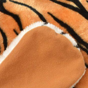 Plišasta preproga tiger 144 cm rjave barve
