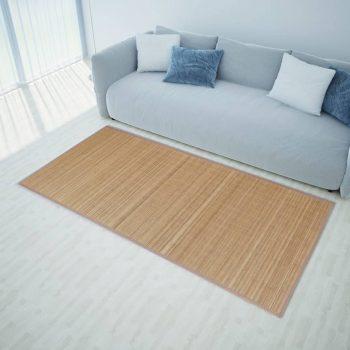 Pravokotna Preproga iz Rjavega Bambusa 80 x 300 cm