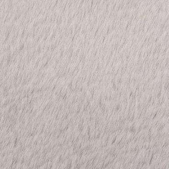 Preproga 160 cm umetno zajčje krzno siva