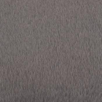 Preproga 160 cm umetno zajčje krzno temno siva