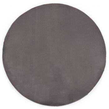 Preproga 80 cm umetno zajčje krzno temno siva